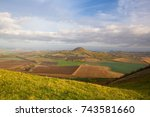 view from the top of rana hill. ... | Shutterstock . vector #743581660