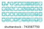 40 icons application business | Shutterstock .eps vector #743587750