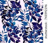 watercolor seamless pattern...   Shutterstock . vector #743592196