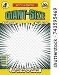 comic book cover. vector art ... | Shutterstock .eps vector #743595469