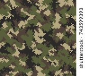 camouflage pattern background... | Shutterstock .eps vector #743599393