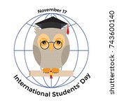 international students ' day.... | Shutterstock .eps vector #743600140
