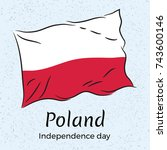 poland. independence day.... | Shutterstock .eps vector #743600146