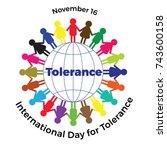 international day of tolerance. ... | Shutterstock .eps vector #743600158