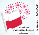 poland. independence day.... | Shutterstock .eps vector #743600443