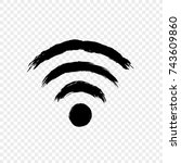 wi fi icon vector illustration. ... | Shutterstock .eps vector #743609860