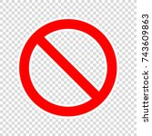prohibition road sign. stop... | Shutterstock .eps vector #743609863