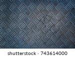 diamond steel texture | Shutterstock . vector #743614000