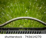 photo shows a closeup of a lawn ... | Shutterstock . vector #743614270