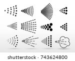 spray icons big set. simple... | Shutterstock .eps vector #743624800