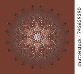 vintage pattern with arabesques.... | Shutterstock .eps vector #743629390