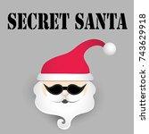 secret santa. vector ...   Shutterstock .eps vector #743629918