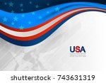 flag of usa background for... | Shutterstock .eps vector #743631319