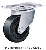 caster wheel illustration | Shutterstock .eps vector #743632066