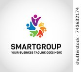 this is a group logo used for... | Shutterstock .eps vector #743632174
