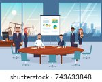 contract signing deal with arab ... | Shutterstock .eps vector #743633848