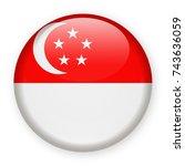 singapore flag vector round... | Shutterstock .eps vector #743636059