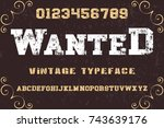 vintage font alphabet old style ...   Shutterstock .eps vector #743639176