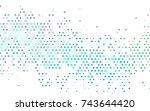 light blue  green vector red... | Shutterstock .eps vector #743644420
