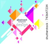 abstract background design with ... | Shutterstock .eps vector #743647234