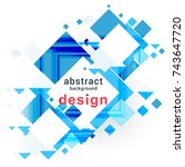 blue abstract background design ...   Shutterstock .eps vector #743647720