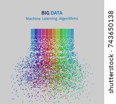 big data machine learning... | Shutterstock .eps vector #743650138