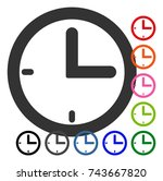 time icon. flat grey pictogram...