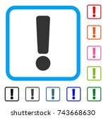 exclamation sign icon. flat... | Shutterstock .eps vector #743668630