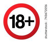 under eighteen years... | Shutterstock .eps vector #743672056