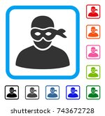 anonymous thief icon. flat grey ...   Shutterstock .eps vector #743672728