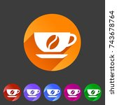 coffee cup coffee bean icon... | Shutterstock . vector #743678764