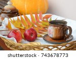 still life photo with apples ... | Shutterstock . vector #743678773
