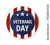 vetarans day label illustration | Shutterstock .eps vector #743681410