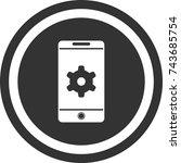 mobile settings icon   dark...