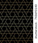 abstract geometric pattern with ... | Shutterstock .eps vector #743693140