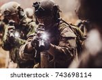 rangers during the military...   Shutterstock . vector #743698114