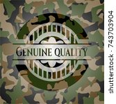 genuine quality camouflaged... | Shutterstock .eps vector #743703904