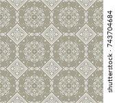 element for design in eastern... | Shutterstock .eps vector #743704684