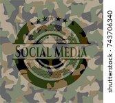social media camouflaged emblem   Shutterstock .eps vector #743706340