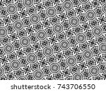 ornament with elements of black ... | Shutterstock . vector #743706550