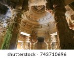 the sun temple is a hindu... | Shutterstock . vector #743710696