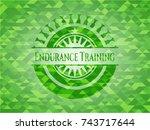 endurance training realistic... | Shutterstock .eps vector #743717644