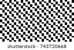 abstract background with mosaic.... | Shutterstock . vector #743720668