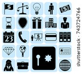 set of 22 business high quality ... | Shutterstock .eps vector #743724766