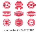 discount  price off  sale... | Shutterstock .eps vector #743727106