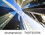 the facade of the new... | Shutterstock . vector #743731534