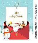 Christmas Greeting Card. Santa...