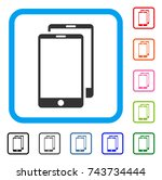 smartphones icon. flat gray... | Shutterstock .eps vector #743734444