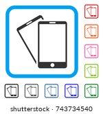 smartphones icon. flat gray...