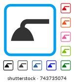 shower head icon. flat grey...